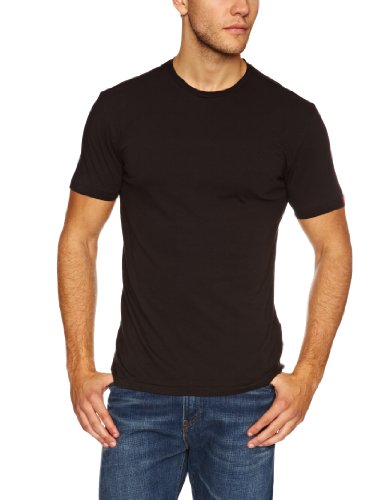 Levi's Slim 2 Pack Crew-4 Men's T-Shirt Black/Black Large