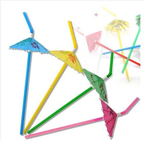50 Pack Party tonight Cocktail Party Umbrella Tropical Drink Straws - Great for Parties, Drinks, Cocktails & More. Mix Colored Multipack. Bring More Fun to Your Drinks (50, Multi) (Mix Stir compare prices)