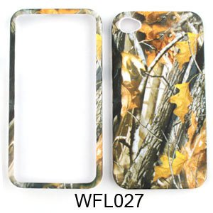 Apple iPhone 4 (AT&T/Verizon) Camo/Camouflage Hunter Series, w/ Big Branch Hard Case/Cover/Faceplate/Snap On/Housing/Protector