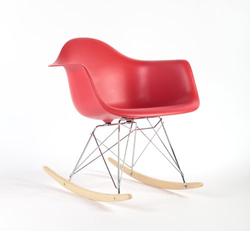 Charles Eames Style RAR Rocking Chair - Red