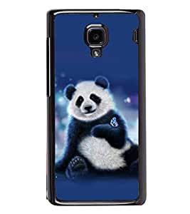 printtech Panda Butterfly Back Case Cover for Xiaomi Redmi 1S , Xiaomi Redmi (1st Gen)