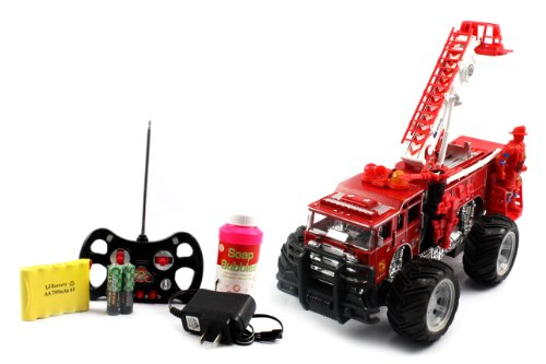Electric Full Function Bubble Blowing Fire Rescue RTR RC Truck Remote Control SHOOTS OUT BUBBLES WHILE DRIVING!!!!