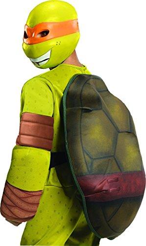 [Teenage Mutant Ninja Turtles Deluxe Michelangelo Costume, Small] (Le Belle Harlequin Adult Costumes)
