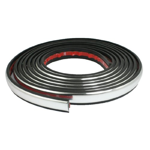 auto window silver tone soft pvc adhesive back moulding trim strip line 4 5m x 23mm cheap auto. Black Bedroom Furniture Sets. Home Design Ideas