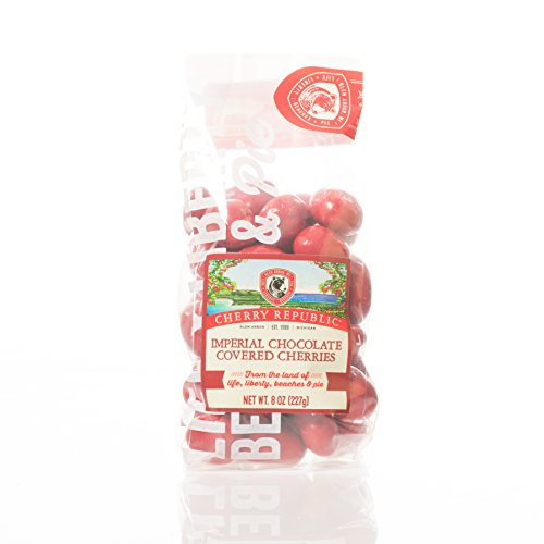 Cherry Republic Chocolate Covered Cherries (Imperial, 8 Ounces) (Red Milk Chocolate Gems compare prices)