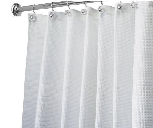InterDesign Carlton Spa Stall Shower Curtain, White