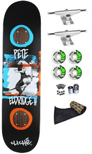 *SCRATCHED* Cliche Pete Eldridge Smash Impact Support 8.0 Skateboard Deck Complete Krux Trucks Spitfire 53mm Wheels Jessup Grip Tape Pop-Lite® Abec 7 Bearings (Comes Assembled Ready To Ride)