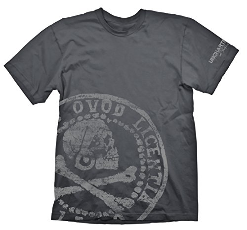 T-Shirt Uncharted - Pirate Coin [grau, XL] [Edizione: Germania]