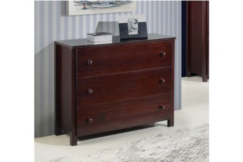 Camaflexi 3-Drawer Dresser, Cappuccino Finish