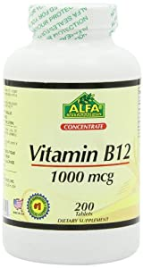 Alfa Vitamins Vitamin B12 Tablets 1000 Mcg, 200 Count