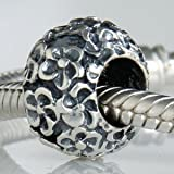 Perfect Posies Flower Authentic 925 Sterling Silver Bead Fits Pandora Chamilia Biagi Troll Charms Europen Style Bracelets