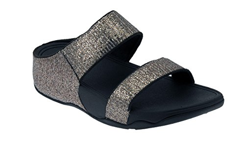 FitFlopTM LuluTM Super Glitz Slide Bronze 3 UK