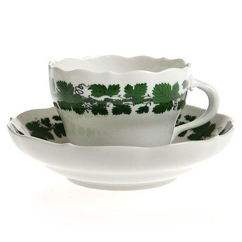 マイセン ブドウの葉 コーヒーカップ&ソーサー【並行輸入品】 841501/00582