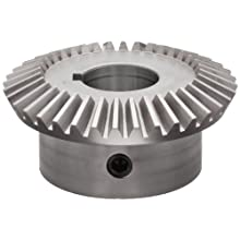 "Boston Gear HL152YG Bevel Gear, 2:1 Ratio, 1.000"" Bore, 12 Pitch, 36 Teeth, Steel"