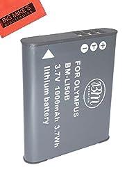 LI-50B Battery Replacement for Olympus Sz-10 SZ-12 SZ-15 SZ-16 iHS Sz-20 SZ-30MR SZ31MR iHS TG-610 TG-630 HIS TG-810 TG-820 TG-830 HIS TG-850 TG-850 IHS XZ-1 XZ-16 iHS Digital Camera + More!!