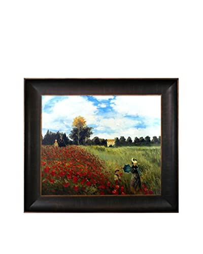 Claude Monet Poppy Field In Argenteuil Framed Hand-Painted Oil Reproduction