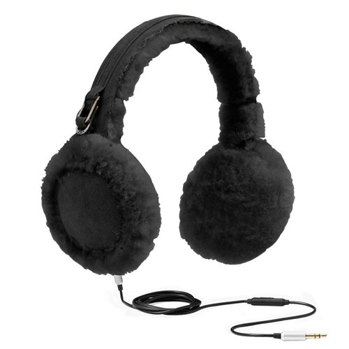"Ugg Australia Women'S Classic ""U"" Logo Speaker Earmuff,Black,Us One Size"
