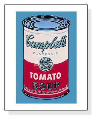 ポスター アンディ ウォーホル キャンベルスープ缶 (pink & red) 1965