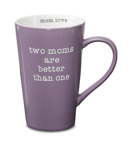 Pavilion Gift Company 14019 Stoneware Mug, Two Moms Are Better Than One