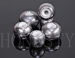 1pc Ceramic Beads Sinker Weights Pure Lead Sinkers Sea Fishing Sinker Tackle