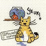 Mouseloft Mini Cross Stitch Kit Yeuk Biscuit the Cat Collection