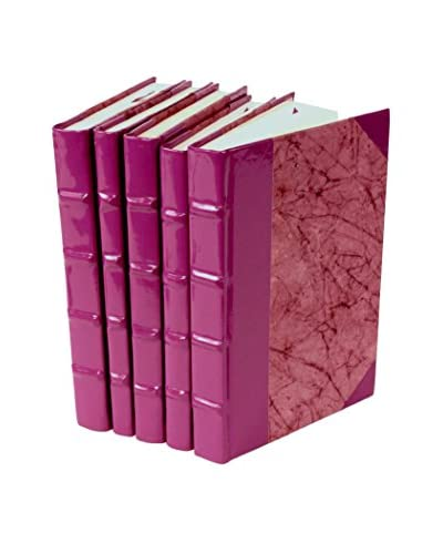 Set of 5 Patent Leather Books, Purple