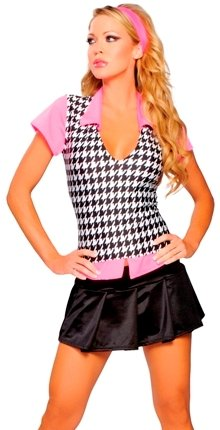Preppy School Girl Outfit Sexy Halloween Costume Womens U.S. Medium/Large (Preppy Halloween Costumes)