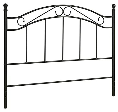 Black Bed Headboard- Fits Full Or Queen Bed Frames front-20707
