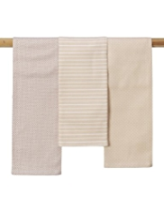 3 Spotted & Striped Tea Towels