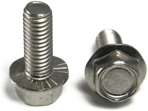 1//2 Length 1//4-20 Thread Size Steel Thread Rolling Screw for Metal Serrated Hex Washer Head Pack of 50 Zinc Plated