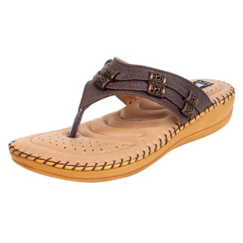 1 Walk Women's Brown Flat Sandal(6)