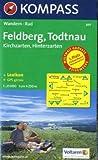 Feldberg, Todtnau: Kirchzarten, Hinterzarten - Wandern / Rad - 1:25.000 - GPS-genau -