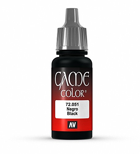 Vallejo Black Game Color 1 Paint, 17ml