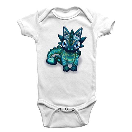 Bb-Dragon-Joli-Coeur-Body-Bb-manches-courtes-Coton-biologique-Blanc-Dragonsite-Fairysite-12-18-Mois