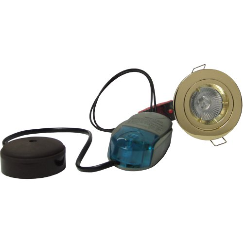 Fire Rated Downlight Fixed MR16 Low Voltage 12v Kit Brass PK of 5