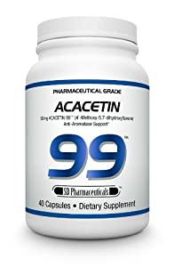SD Pharmaceuticals Acacetin 99, Anti-Aromase Support Capsules, 40 Count