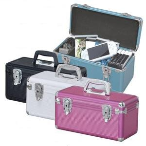 Alumi Case, Tool Box, Cosmetic Case AM-34D,Black, CD Holder, Travel Case