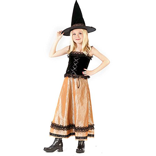 Kid's Elegant Witch Costume (Size:Large 12-14)