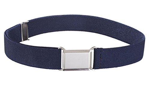 Buyless Fashion Kids And Baby Adjustable And Elastic Dress Stretch Belt With Silver Buckle - Navy (Belts For Kids compare prices)