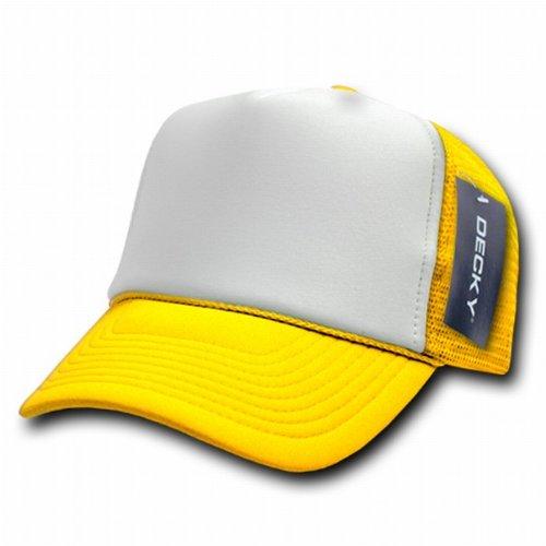 Decky Trucker Hats: Blank Snapback Hats: Decky Vintage Foam Trucker Hat 2 Tone