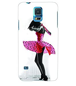 ColourCraft Dancing Girl Back Case Cover for SAMSUNG GALAXY S5 NEO