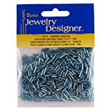 1/4 In. Silver Lined Glass Bugle Beads, Turquoise