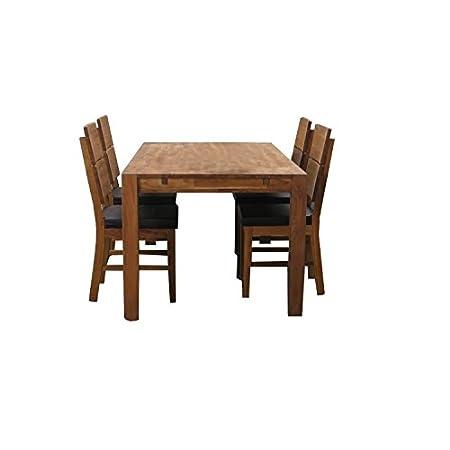 5-teilige Essgruppe TURBO, Massivholz, 4 Stuhle