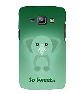 Elephant Clipart 3D Hard Polycarbonate Designer Back Case Cover for Samsung Galaxy J1 :: Samsung Galaxy J1 J100F (2015)