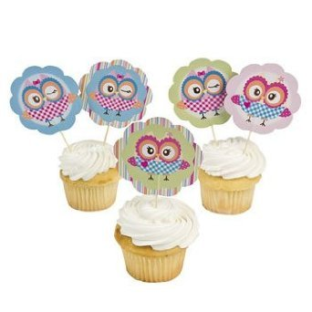 You're A Hoot Picks Cupcake Picks