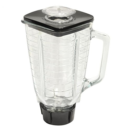 5 Cup Square Top 6 Piece Complete Glass Jar Replacement Set, Fits Oster Blender (Square Blender compare prices)