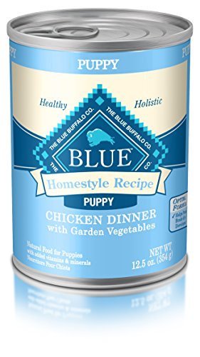 Blue Buffalo BLUE Homestyle Recipe Puppy Chicken Dinner (Pack of 12, 12.5 oz cans) (Blue Buffalo Canned Puppy Food compare prices)