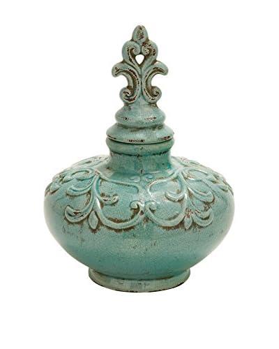 Ceramic Jar, Turquoise