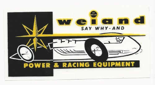Weiand Power Racing Decal Sticker 5 Inches Long Vintage Style front-25938
