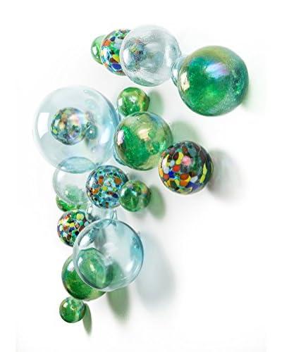 Worldly Goods Set of 15 Wall Spheres, Carmen & Sky